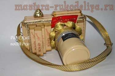 Мастер-класс по свит-дизайну: Фотоаппарат из шоколада и кофе