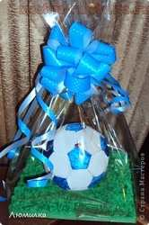 Мастер-класс по свит-дизайну: Сладкий подарок футболисту; Очередной гол.