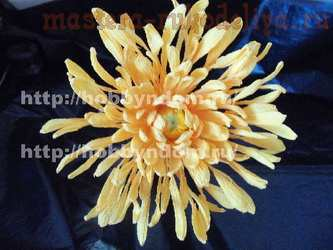 Мастер-класс по букетам из конфет: Игольчатая хризантема