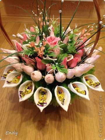 Мастер-класс по букетам из конфет: Каллы