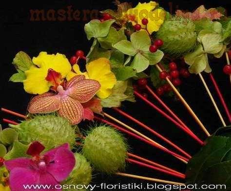 Фото мастер-класс по флористике: Композиция со сферой