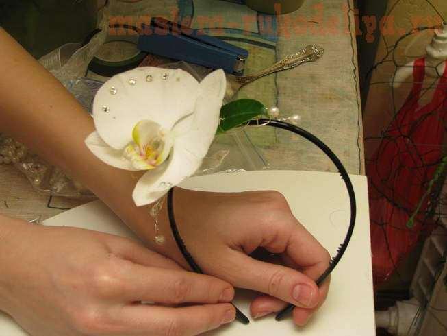 Фото мастер-класс по флористике: Украшение в прическу