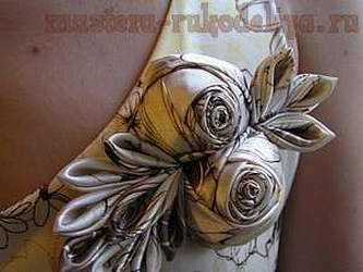 Мастер-класс: Роза из ткани