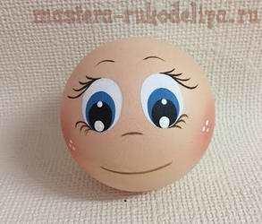 Видео мастер-класс по поделкам из фоамирана: Как нарисовать глаза кукле-фофуче