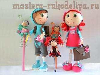 Видео мастер-класс по созданию куклы-фофучи: Кукла Школьница