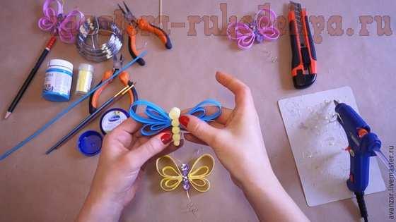 Мастер-класс по поделкам из фоамирана: Бабочки и стрекозы
