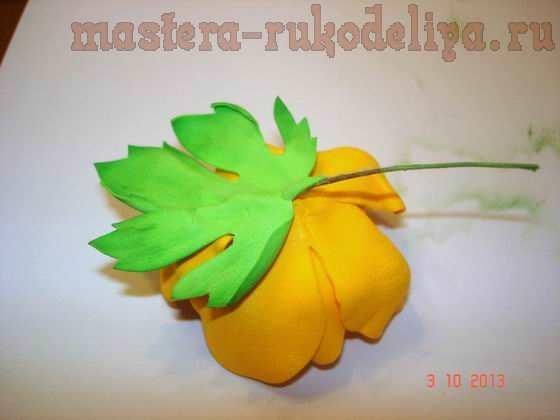 Мастер-класс: Брошь цветок из фоамирана
