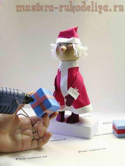 Мастер-класс по поделкам из фоамирана: Дед Мороз