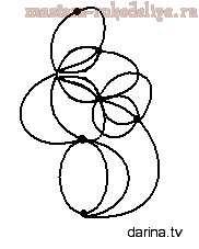 Схема фриволите, анкарс: Серьги Цветок папоротника