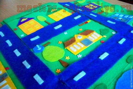 Мастер-класс по шитью из фетра: Домик-городок
