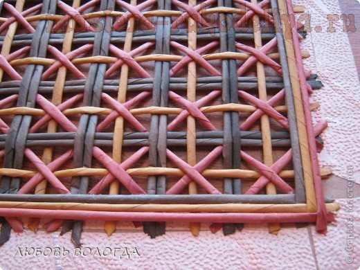 Мастер-класс по плетению из газет: Ажурная крышка для плетенок