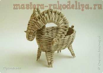 Мастер-класс по плетению из газет: Барашек