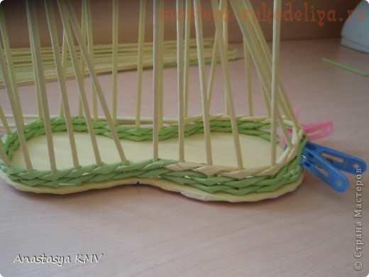 Мастер-класс по плетению из газет: Башмак плетеный из бумаги
