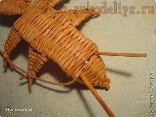 Мастер-класс по плетению из газет: Бельчонок