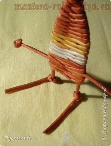 Мастер-класс по плетению из газет: Гномы