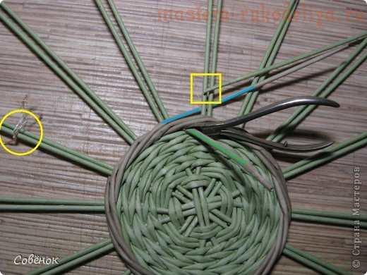 Мастер-класс по плетению из газет: Шкатулка из бумаги