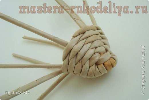Мастер-класс по плетению из газет: Хорёк и белка