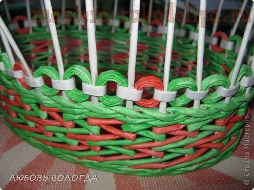 Мастер-класс по плетению из газет: Корзинка из бракованных трубочек