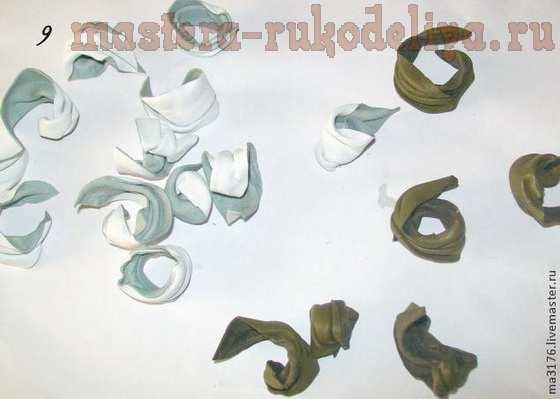 Мастер-класс по цветам из кожи: Белые лилии для туфелек
