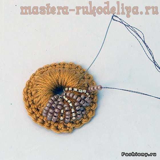 Мастер-класс по изделиям из кожи: Большой цветок-брошь