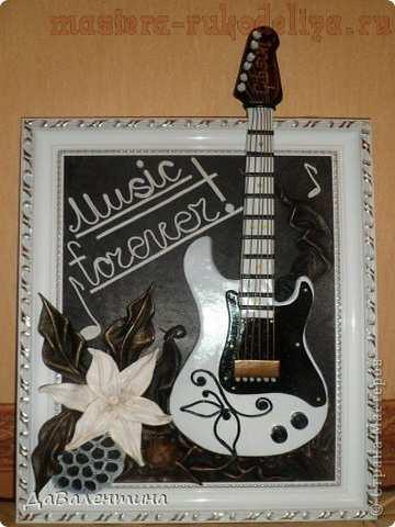 Открытки гитара своими руками, днем рождения мультяшных