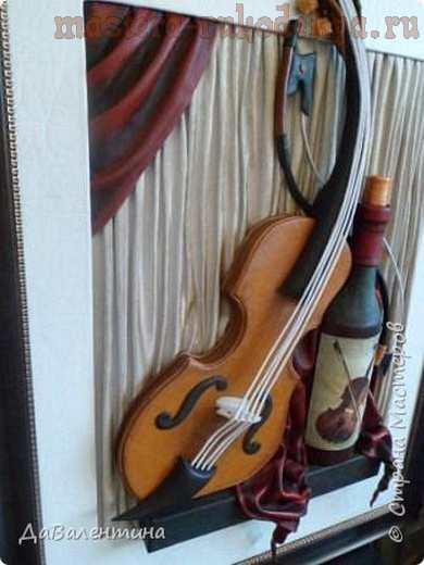 Мастер-класс по изделиям из кожи: Картины; Вечная любовь; и; Веселая; скрипка.