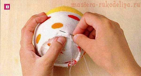 Мастер-класс по шитью игрушек из носков: Поросенок