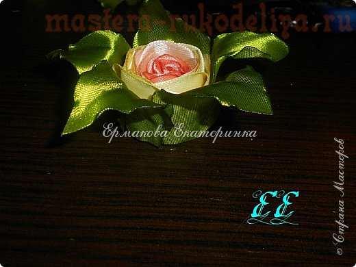 Мастер-класс по канзаши: Горшочек с розами
