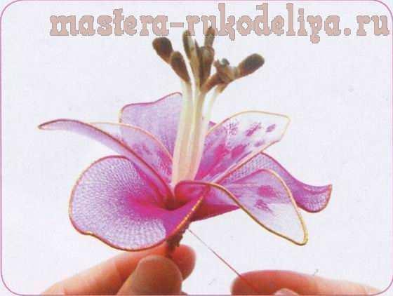 Мастер-класс по созданию цветов из капрона: Альстромерия