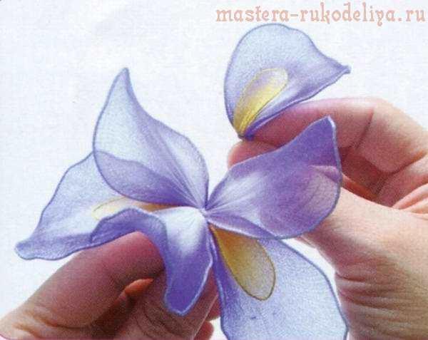 Мастер-класс по созданию цветов из капрона: Букет ирисов