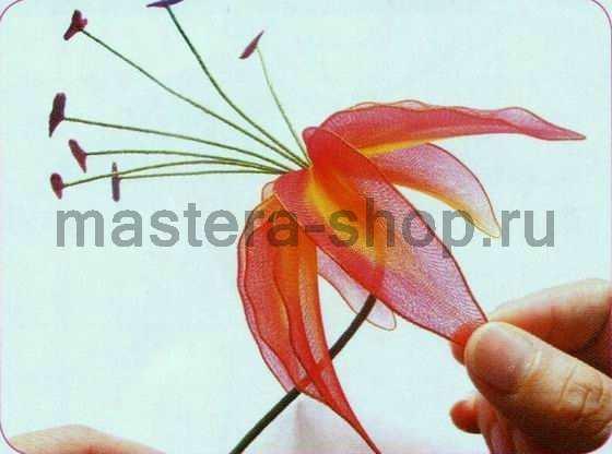 Мастер-класс по созданию цветов из капрона: Пламенная лилия