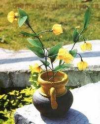 Мастер-класс по созданию цветов из капрона: Сандерсония - Китайская лилия-фонарик