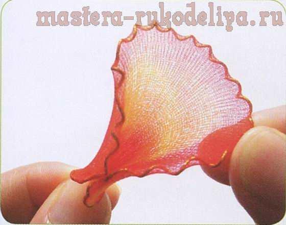 Мастер-класс по созданию цветов из капрона: Катлея