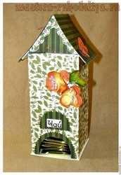 Мастер-класс по картонажу: Чайный домик из картона