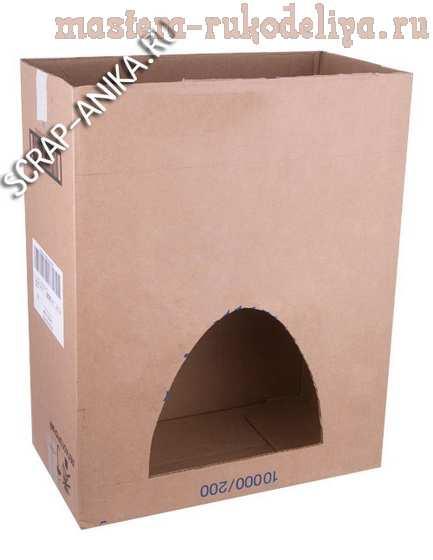 Мастер-класс по картонажу: Домик для котенка