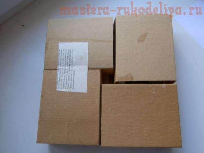 Комодик из коробочек от ватных палочек