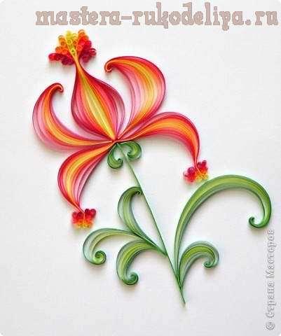 Мастер-класс по квиллингу: Цветочек аленький