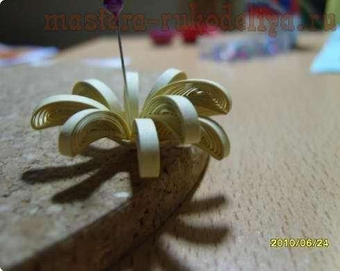 Мастер-класс по квиллингу: Фантазийный цветок из бумаги