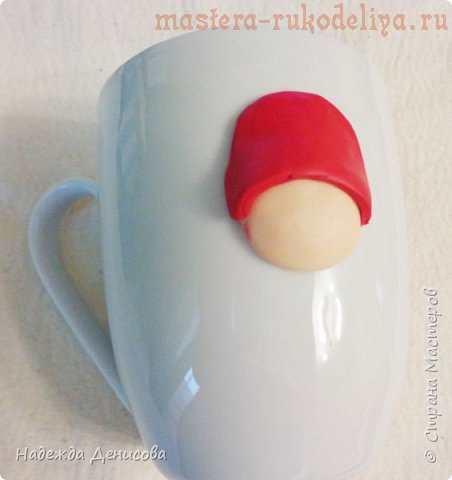 Как сделать декор кружки полимерной глиной