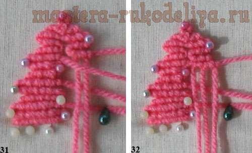Мастер-класс по плетению макраме: Ёлочка из брид