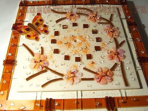 Мастер-класс по фьюзингу: Настенные часы «Цветение сакуры»