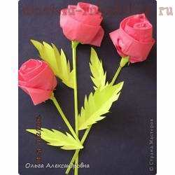 Фото мастер-класс: Розы из салфеток