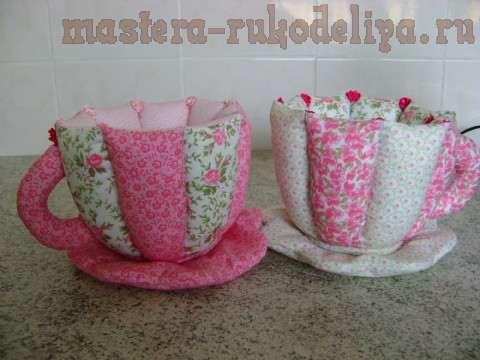 Чашка-ваза в стиле пэчворк
