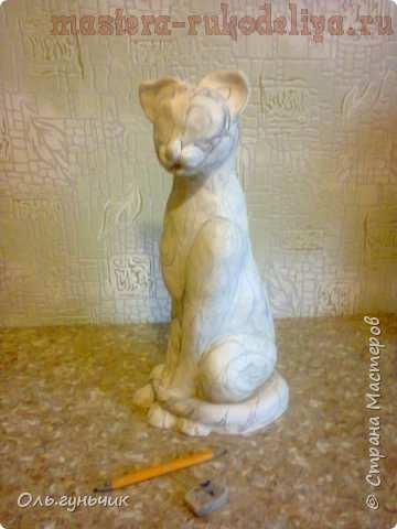Мастер-класс по филиграни из джута: Ажурная кошка