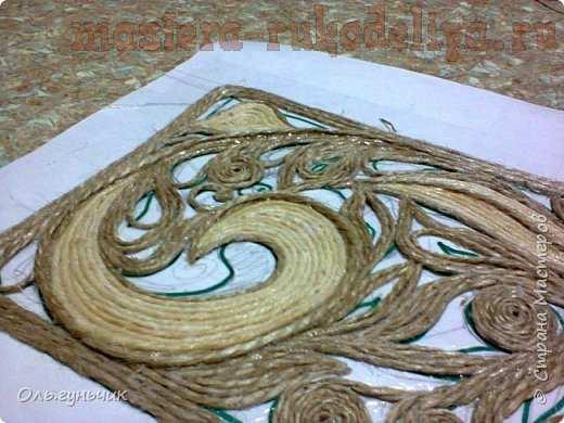 Мастер-класс по филиграни из джута: Ажурная полочка