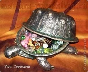 Мастер-класс по пейп-арту: Шкатулка «Черепаха»