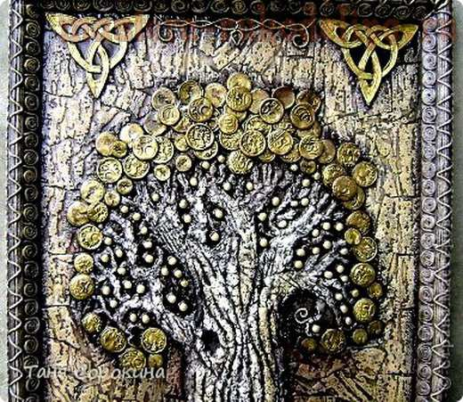 Мастер-класс по пейп-арту: Дерево богатства