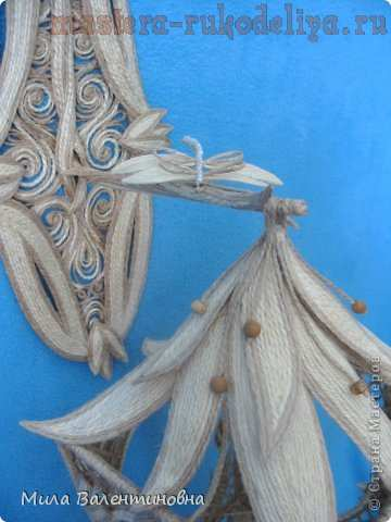 Мастер-класс по филиграни из джутового шнура: Фонарик; Лилия.