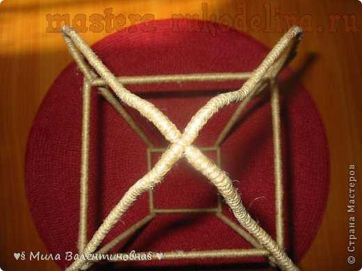 Мастер-класс по филиграни из джутового шнура: Фонарик; Май.