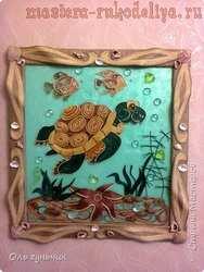 Мастер-класс по филиграни из джута: Картина; Морская черепаха.